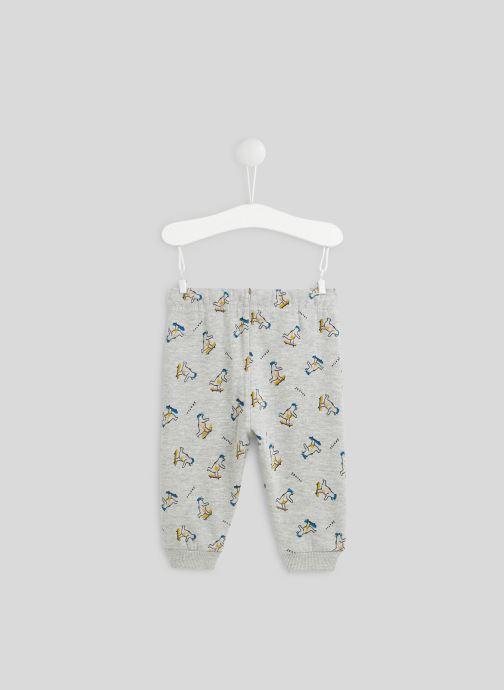 Vêtements Bout'Chou Pantalon molleton imprimé en coton BIO Gris vue portées chaussures
