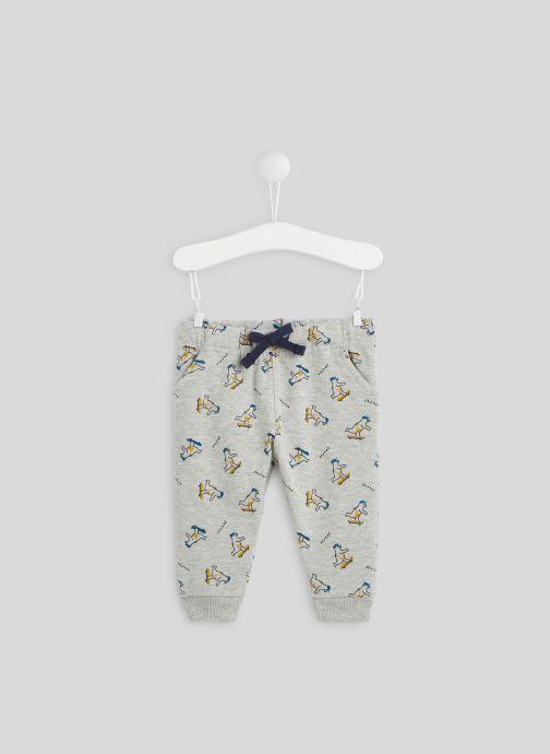 Vêtements Bout'Chou Pantalon molleton imprimé en coton BIO Gris vue détail/paire