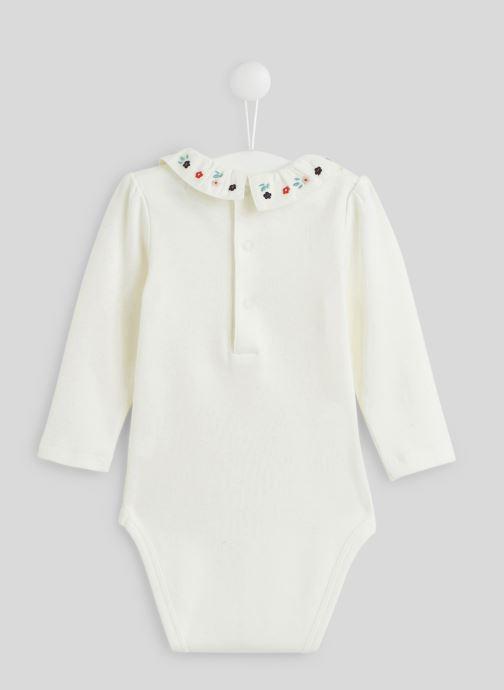 Vêtements Bout'Chou Body brodé à fleurs Blanc vue portées chaussures