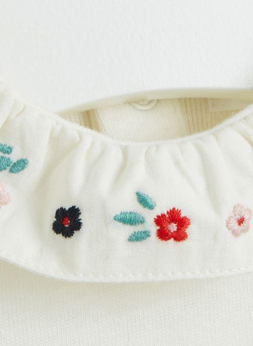 Vêtements Bout'Chou Body brodé à fleurs Blanc vue face