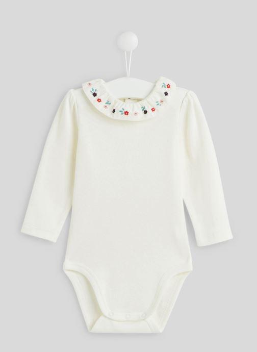 Vêtements Bout'Chou Body brodé à fleurs Blanc vue détail/paire