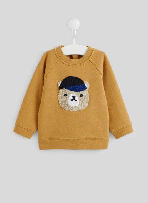 Vêtements Bout'Chou Sweat imprimé en coton BIO Marron vue détail/paire