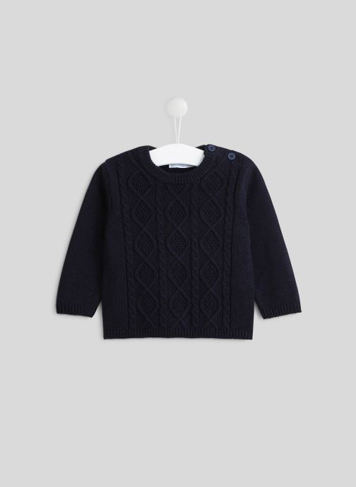 Vêtements Bout'Chou Pull torsades Oeko-Tex Bleu vue détail/paire