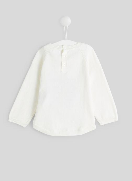 Vêtements Bout'Chou Pull intarsia Blanc vue portées chaussures