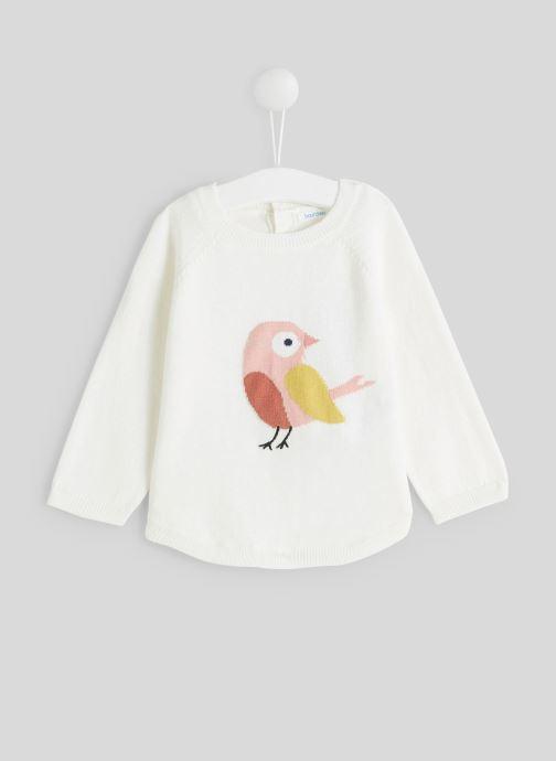 Vêtements Bout'Chou Pull intarsia Blanc vue détail/paire
