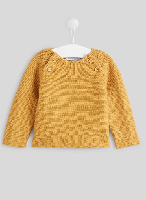 Kleding Bout'Chou Pull point mousse Geel detail