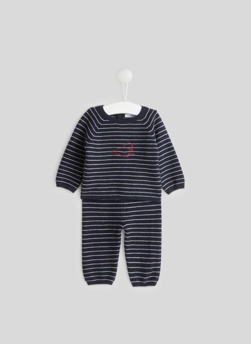 Kleding Bout'Chou Ensemble pyjama rayé Blauw detail