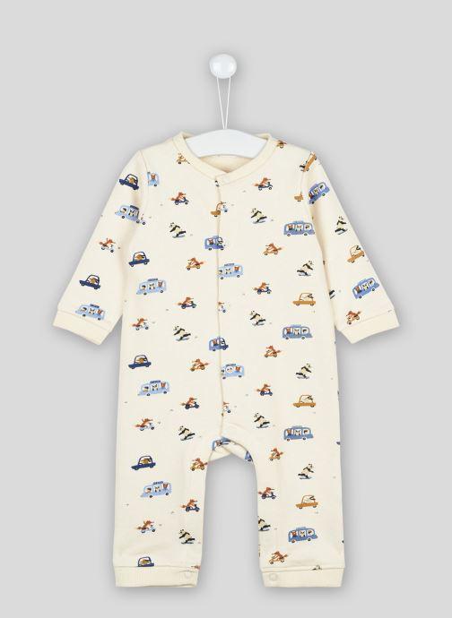 Vêtements Bout'Chou Combinaison imprimée en molleton Beige vue détail/paire