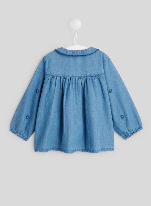 Vêtements Bout'Chou Blouse col brodé Bleu vue portées chaussures