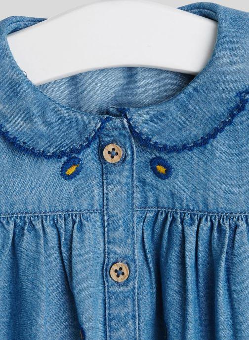 Vêtements Bout'Chou Blouse col brodé Bleu vue face