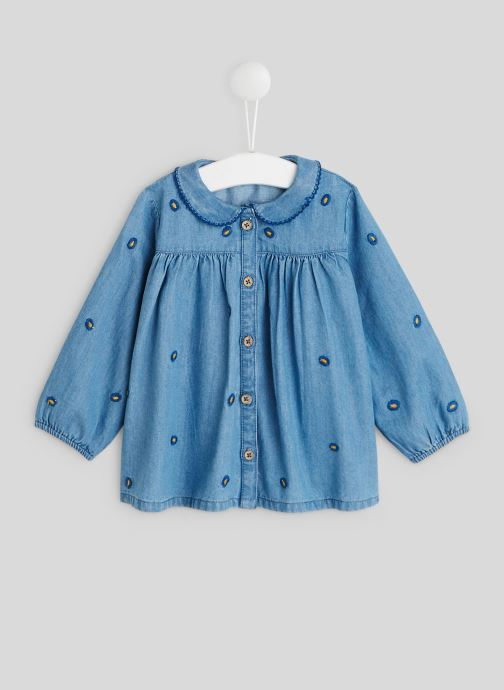 Vêtements Bout'Chou Blouse col brodé Bleu vue détail/paire