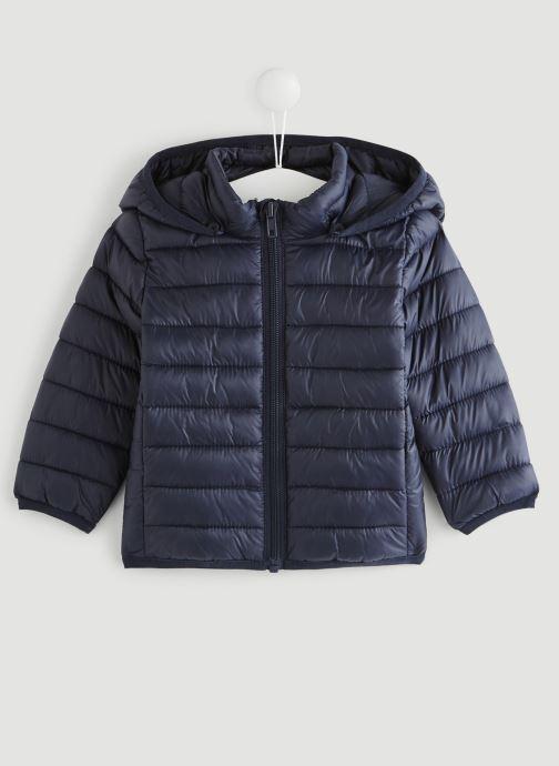 Vêtements Bout'Chou Doudoune fine à capuche Bleu vue détail/paire