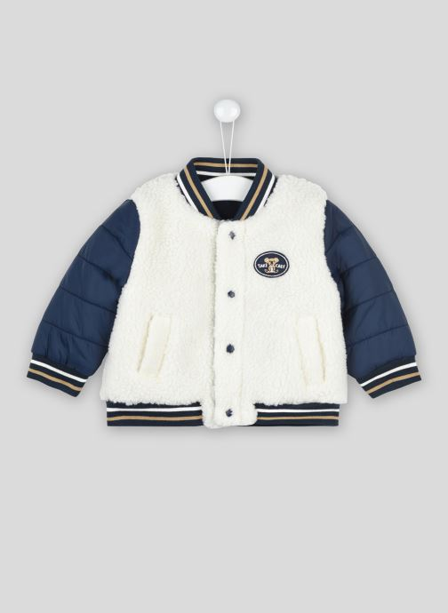 Vêtements Bout'Chou Teddy bi-matières Bleu vue détail/paire
