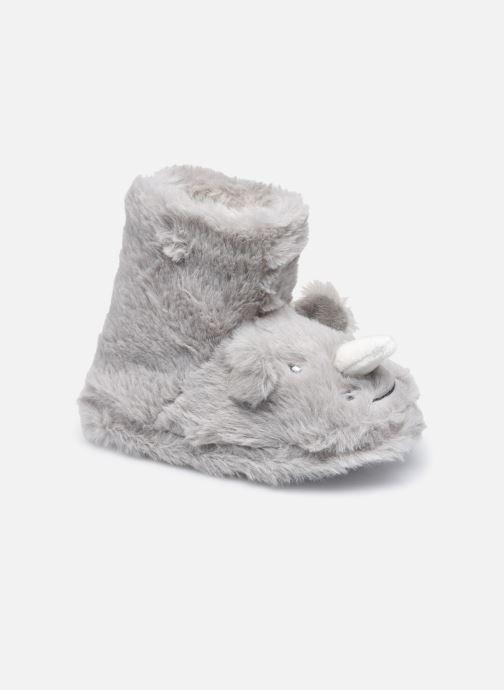 Pantoffels Sarenza Wear Chaussons montants animaux enfant garcon Grijs detail