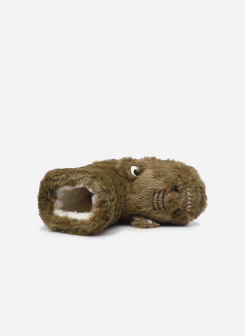 Hausschuhe Sarenza Wear Chaussons montants animaux enfant garcon braun ansicht von links