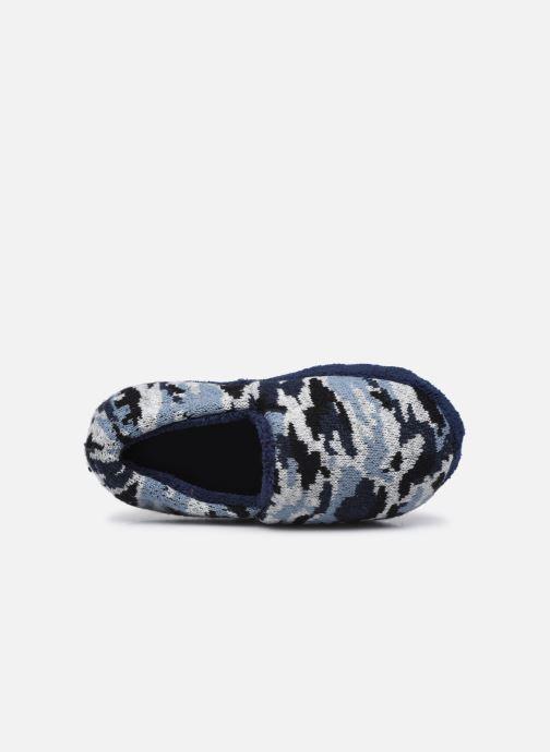 Pantuflas Sarenza Wear Chaussons militaire enfant garcon Azul vista lateral izquierda
