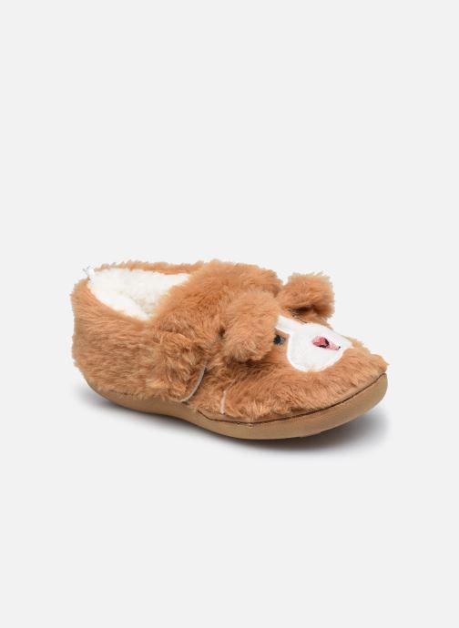 Pantoffels Sarenza Wear Chaussons animaux enfant fille Bruin detail