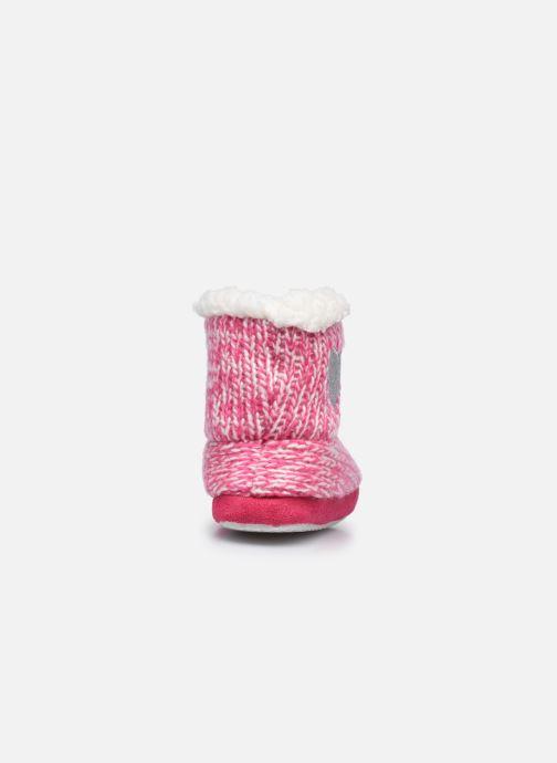 Chaussons Sarenza Wear Chaussons montants cœur enfant fille Rose vue droite