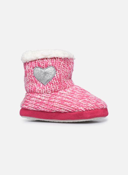 Chaussons Sarenza Wear Chaussons montants cœur enfant fille Rose vue derrière