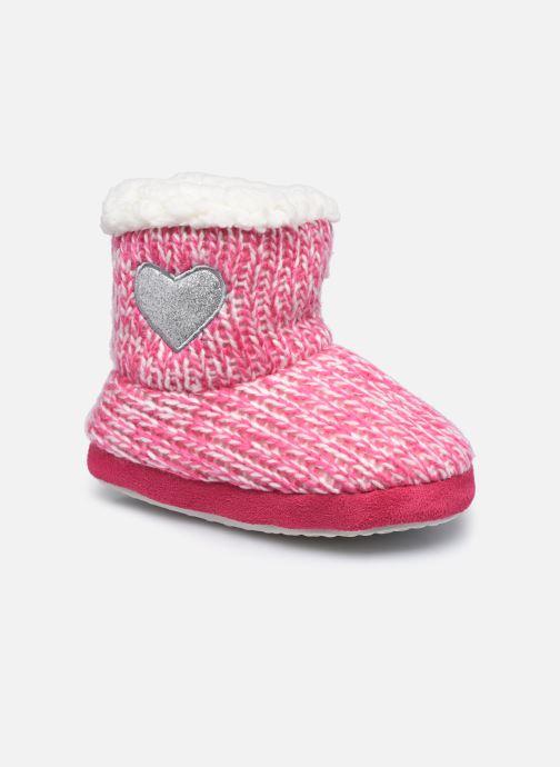 Chaussons Sarenza Wear Chaussons montants cœur enfant fille Rose vue détail/paire