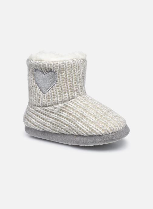 Pantoffels Sarenza Wear Chaussons montants cœur enfant fille Grijs detail