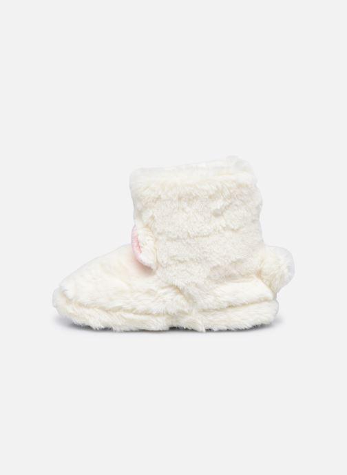 Pantoffels Sarenza Wear Chaussons montants tout doux enfant Wit voorkant