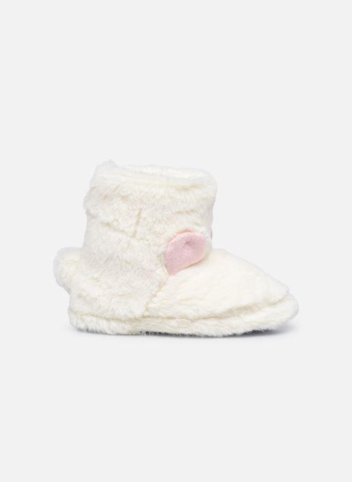 Pantoffels Sarenza Wear Chaussons montants tout doux enfant Wit achterkant