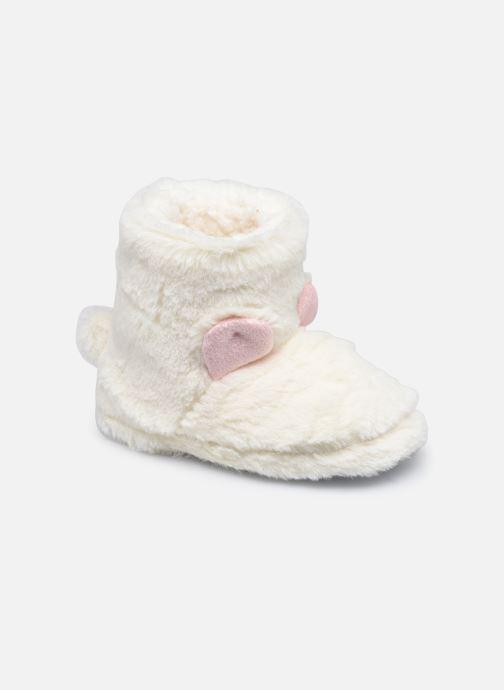 Pantoffels Sarenza Wear Chaussons montants tout doux enfant Wit detail