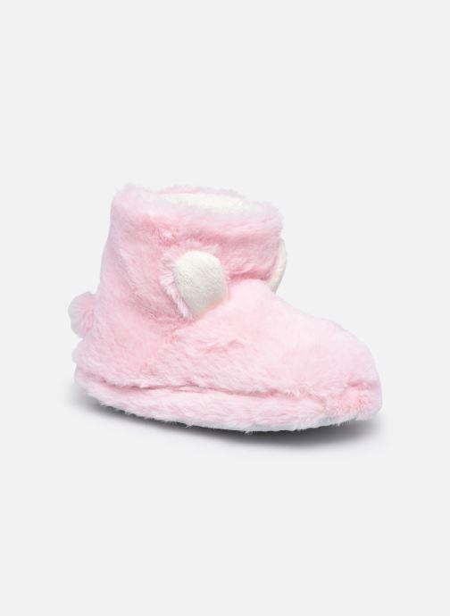 Pantoffels Sarenza Wear Chaussons montants tout doux enfant Roze detail