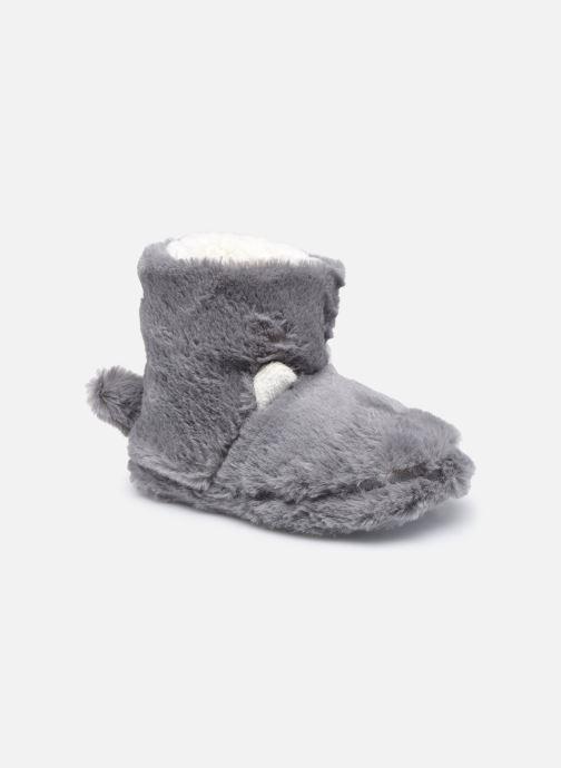 Pantoffels Sarenza Wear Chaussons montants tout doux enfant Grijs detail
