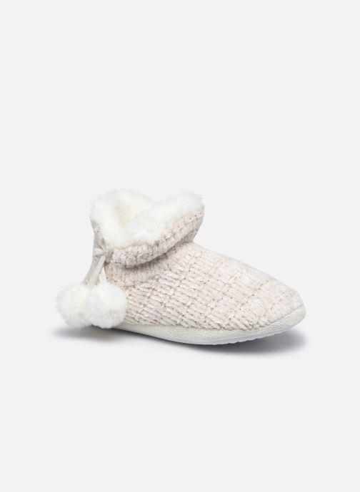 Chaussons montants tricot et pompons enfant fille