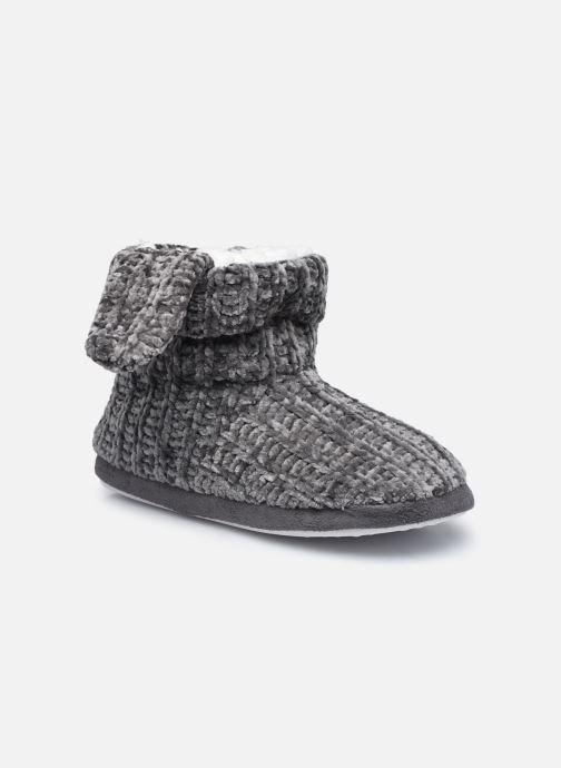 Pantoffels Sarenza Wear Chaussons montants oreilles enfant fille Grijs detail