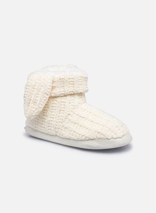 Pantoffels Sarenza Wear Chaussons montants oreilles enfant fille Wit detail