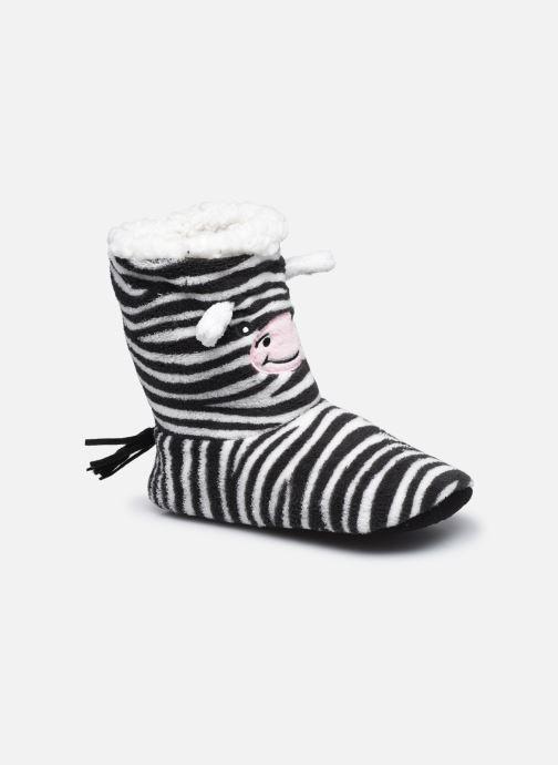 Hausschuhe Sarenza Wear Chaussons montants animaux enfant schwarz detaillierte ansicht/modell