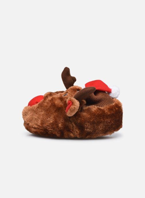 Pantoffels Sarenza Wear Chaussons de noel 3D enfant Bruin voorkant
