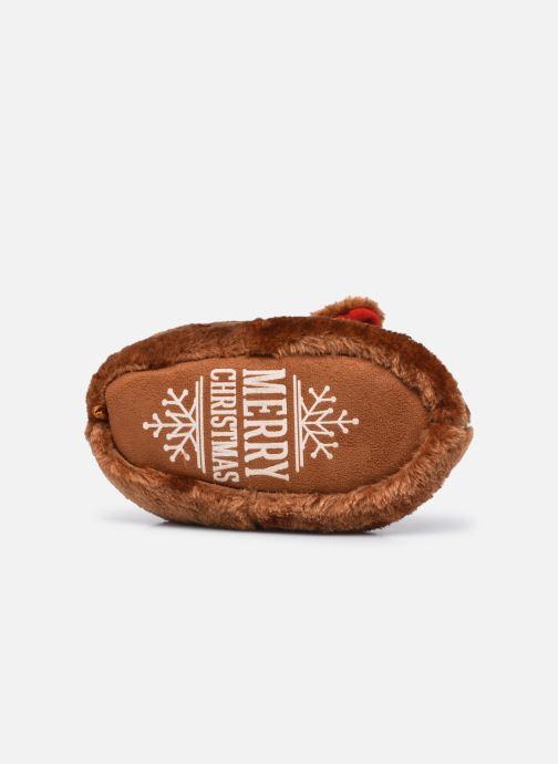 Pantoffels Sarenza Wear Chaussons de noel 3D enfant Bruin boven