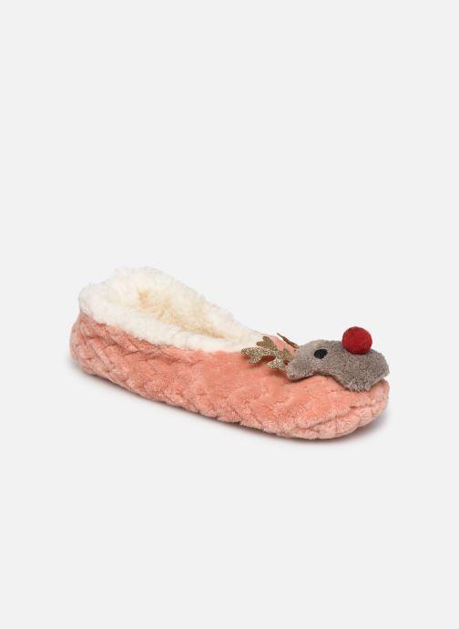 Pantoffels Sarenza Wear Chaussons ballerines de noel enfant Roze detail