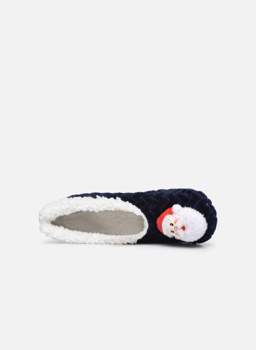 Pantoffels Sarenza Wear Chaussons ballerines de noel enfant Blauw links