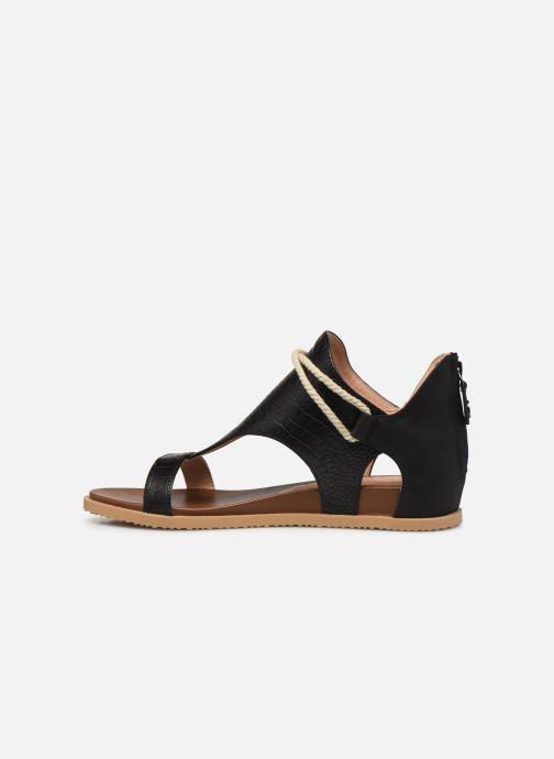 Sandales et nu-pieds Chattawak JOY Noir vue face