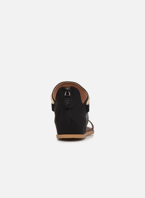 Sandales et nu-pieds Chattawak JOY Noir vue droite