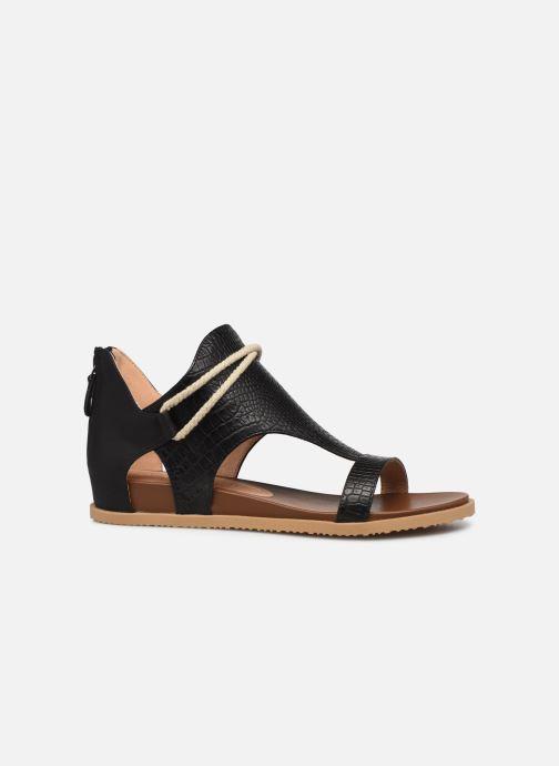 Sandales et nu-pieds Chattawak JOY Noir vue derrière