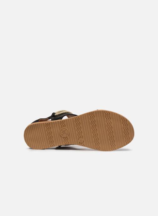 Sandales et nu-pieds Chattawak JOY Noir vue haut