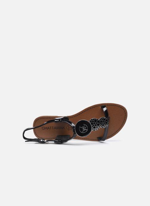 Sandales et nu-pieds Chattawak PIPA Noir vue gauche