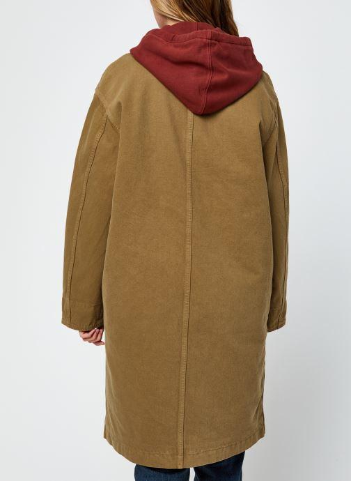 Vêtements Levi's Luna Coat W/ Fill Marron vue portées chaussures