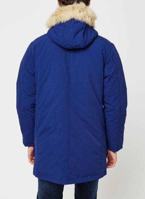 Vêtements Levi's Balboa Parka Blueprint Bleu vue portées chaussures