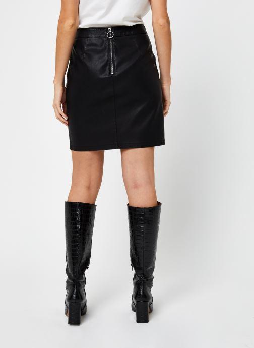Vêtements Noisy May Kelly Skirt Noir vue portées chaussures
