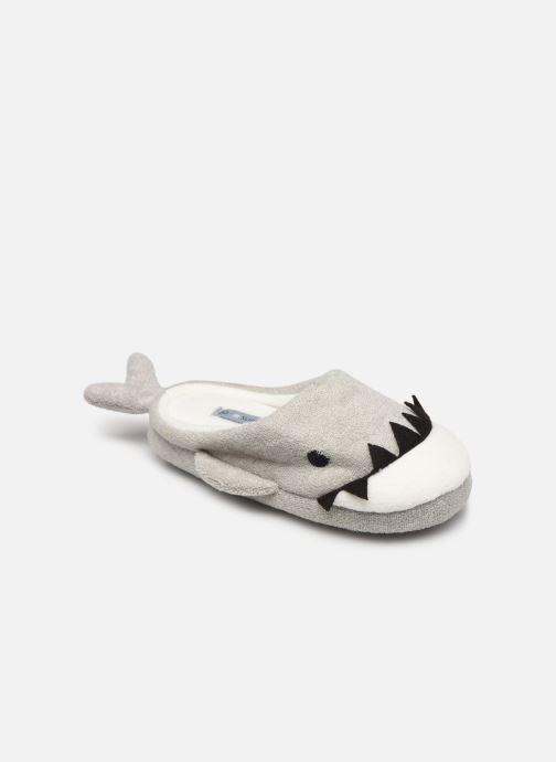 Pantoffels Sarenza Wear Chaussons requin enfant Grijs detail