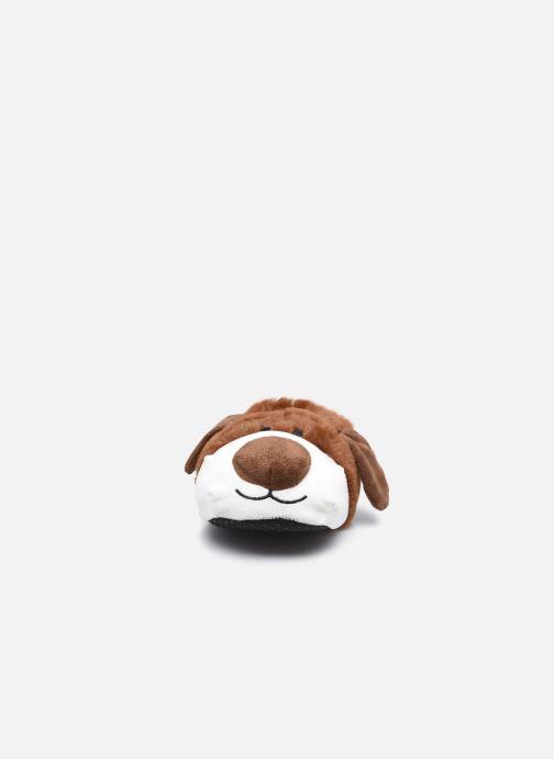 Hausschuhe Sarenza Wear Chaussons chien 3D enfant braun schuhe getragen