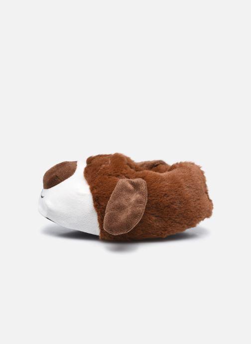 Hausschuhe Sarenza Wear Chaussons chien 3D enfant braun ansicht von vorne