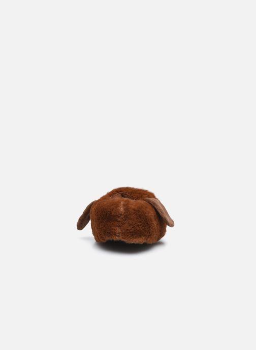 Hausschuhe Sarenza Wear Chaussons chien 3D enfant braun ansicht von rechts